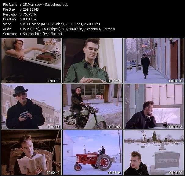 Screenshot of Music Video Morrissey - Suedehead
