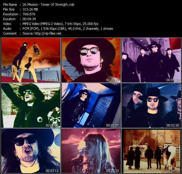 Screenshot of Music Video Mission - Tower Of Strength