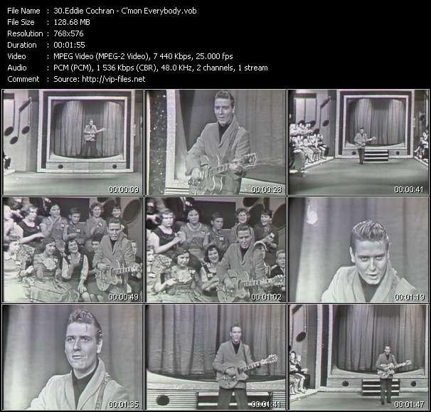 Screenshot of Music Video Eddie Cochran - C'mon Everybody