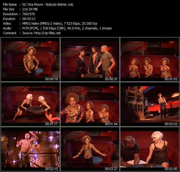 Screenshot of Music Video Tina Moore - Nobody Better