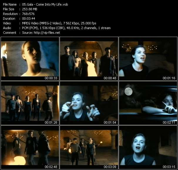 Screenshot of Music Video Gala - Come Into My Life