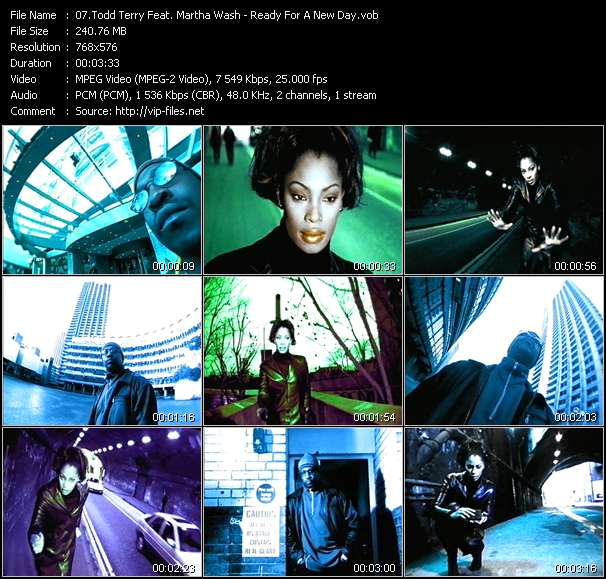 Screenshot of Music Video Todd Terry Feat. Martha Wash - Ready For A New Day