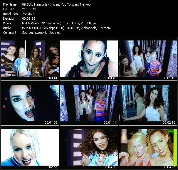 Screenshot of Music Video Solid Harmonie - I Want You To Want Me