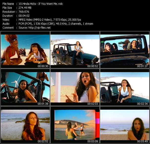 Screenshot of Music Video Hinda Hicks - If You Want Me