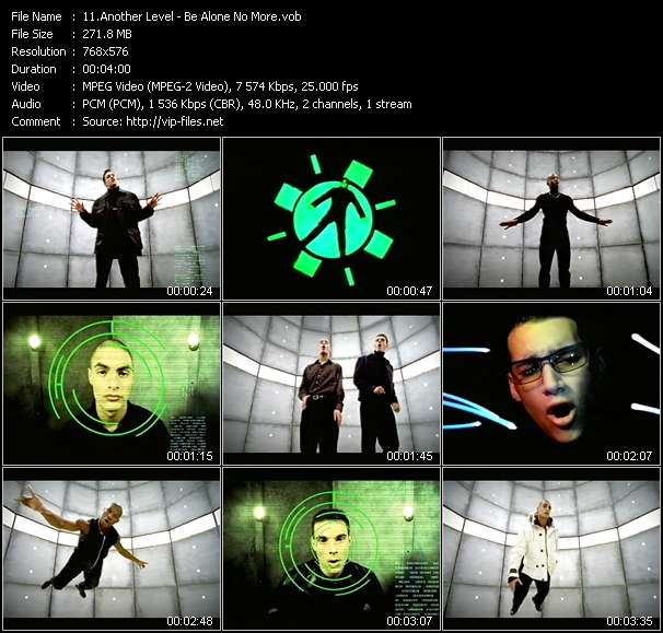 Screenshot of Music Video Another Level - Be Alone No More