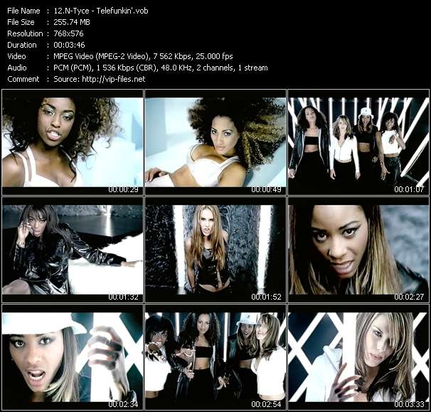 Screenshot of Music Video N-Tyce - Telefunkin'