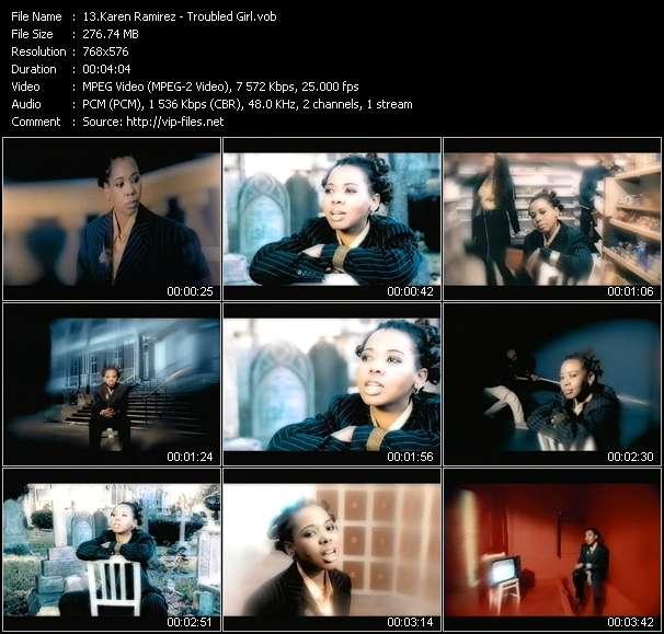 Screenshot of Music Video Karen Ramirez - Troubled Girl