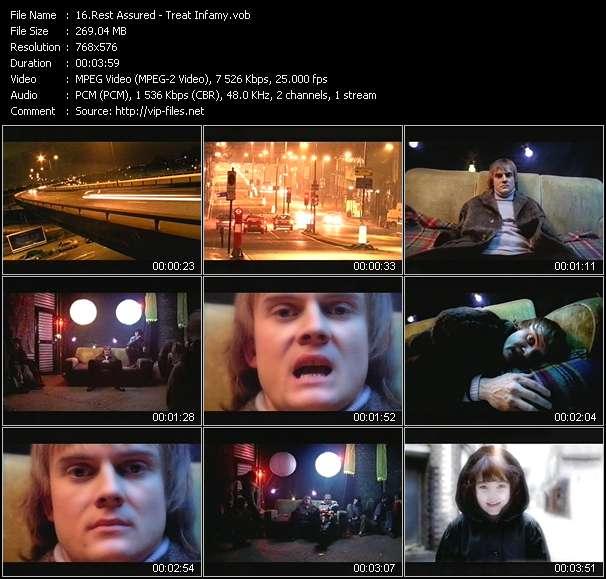 Screenshot of Music Video Rest Assured - Treat Infamy