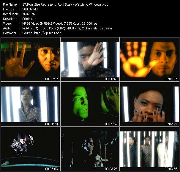 Screenshot of Music Video Roni Size Reprazent (Roni Size) - Watching Windows