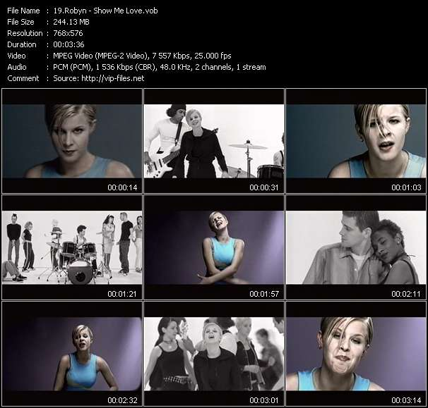 Screenshot of Music Video Robyn - Show Me Love