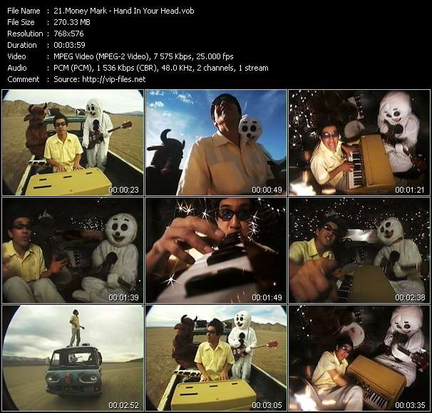 Screenshot of Music Video Money Mark - Hand In Your Head