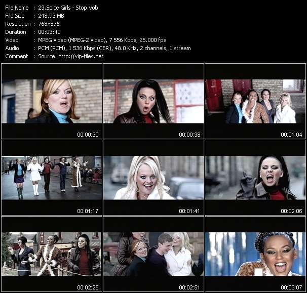 Screenshot of Music Video Spice Girls - Stop