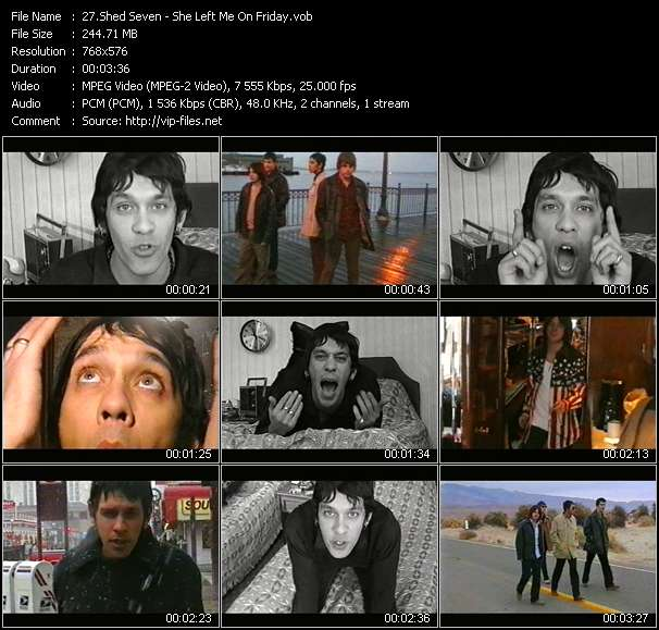 Screenshot of Music Video Shed Seven - She Left Me On Friday