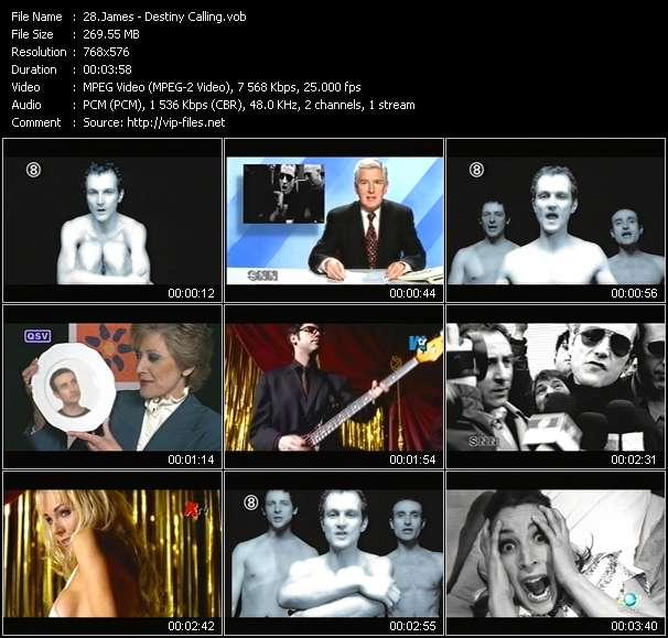 Screenshot of Music Video James - Destiny Calling