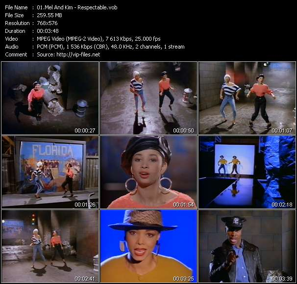 Mel And Kim clips musicaux vob