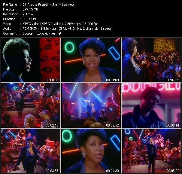 Screenshot of Music Video Aretha Franklin - Jimmy Lee