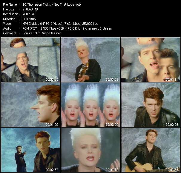 Screenshot of Music Video Thompson Twins - Get That Love
