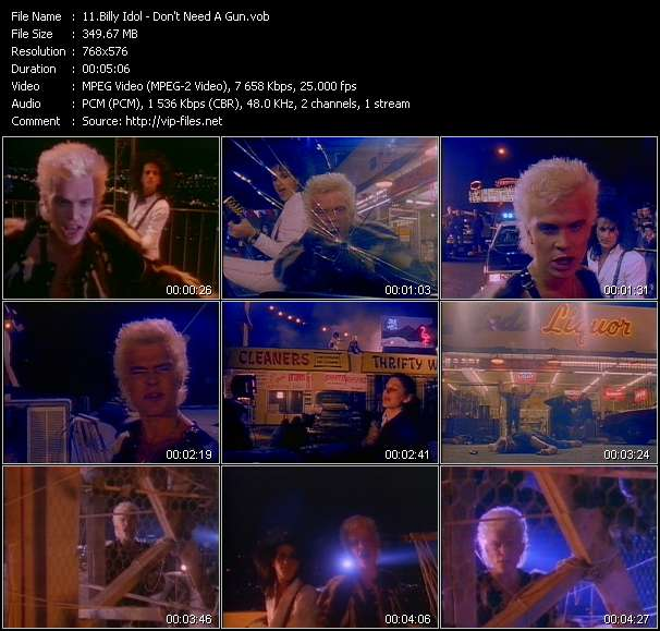 Billy Idol video vob