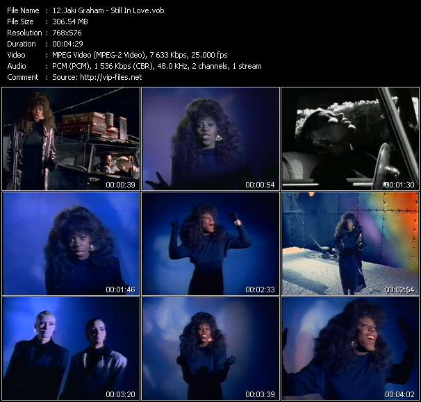 Screenshot of Music Video Jaki Graham - Still In Love