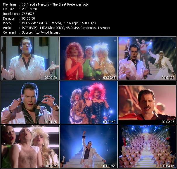 Freddie Mercury video vob