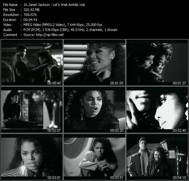 Screenshot of Music Video Janet Jackson - Let's Wait Awhile