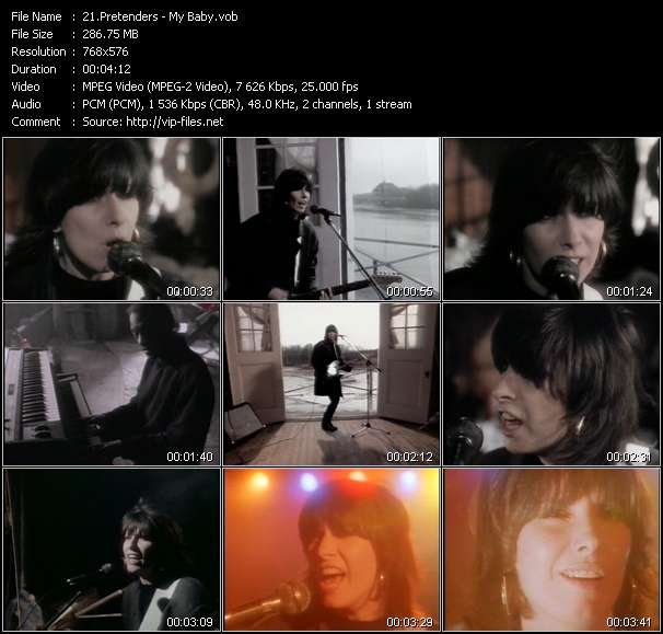Screenshot of Music Video Pretenders - My Baby