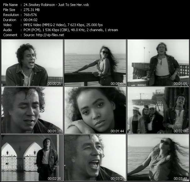 Screenshot of Music Video Smokey Robinson - Just To See Her