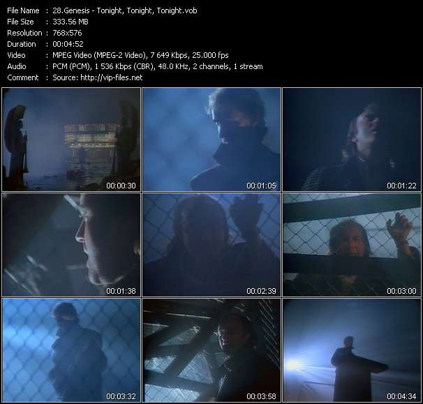 Screenshot of Music Video Genesis - Tonight, Tonight, Tonight