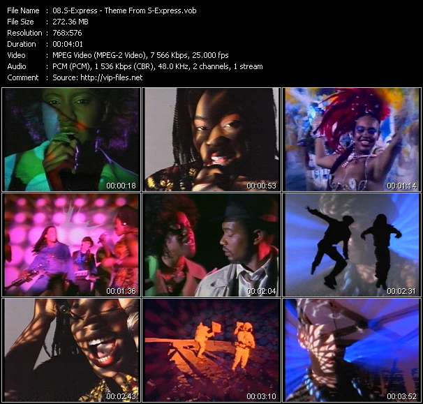Screenshot of Music Video S-Express - Theme From S-Express
