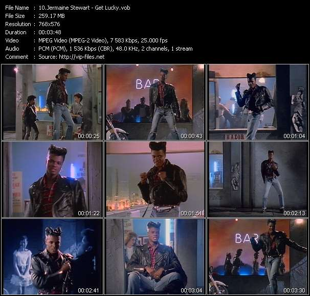 Screenshot of Music Video Jermaine Stewart - Get Lucky