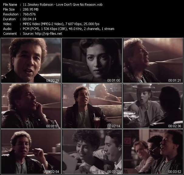 Screenshot of Music Video Smokey Robinson - Love Don't Give No Reason
