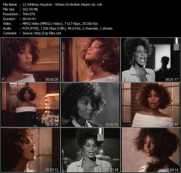 Screenshot of Music Video Whitney Houston - Where Do Broken Hearts Go