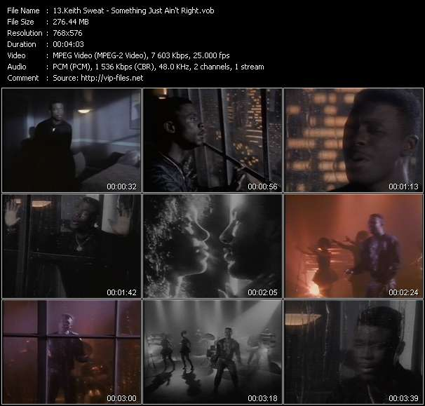 Screenshot of Music Video Keith Sweat - Something Just Ain't Right