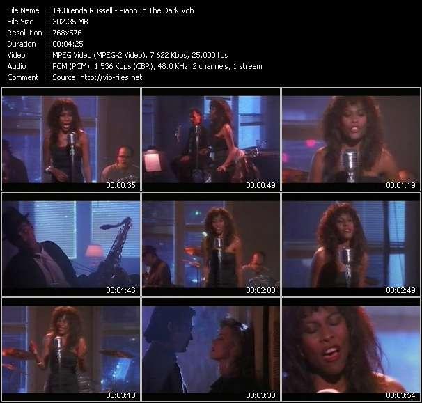 Screenshot of Music Video Brenda Russell - Piano In The Dark