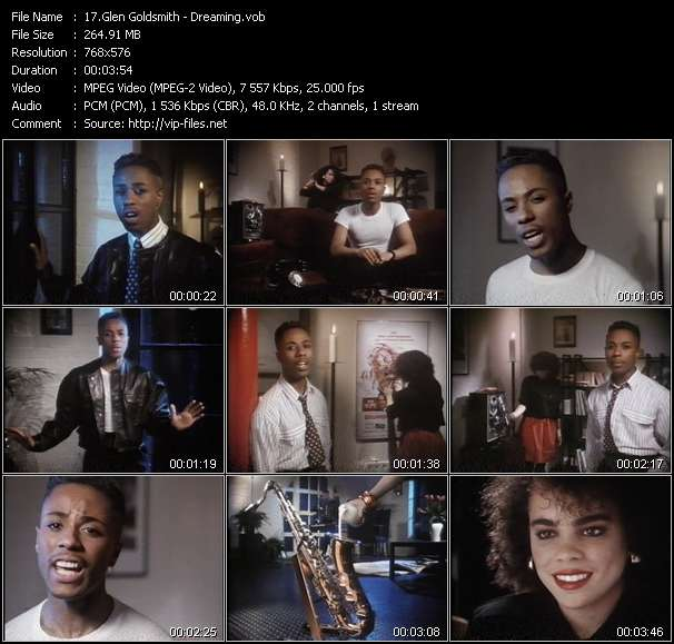 Screenshot of Music Video Glen Goldsmith - Dreaming
