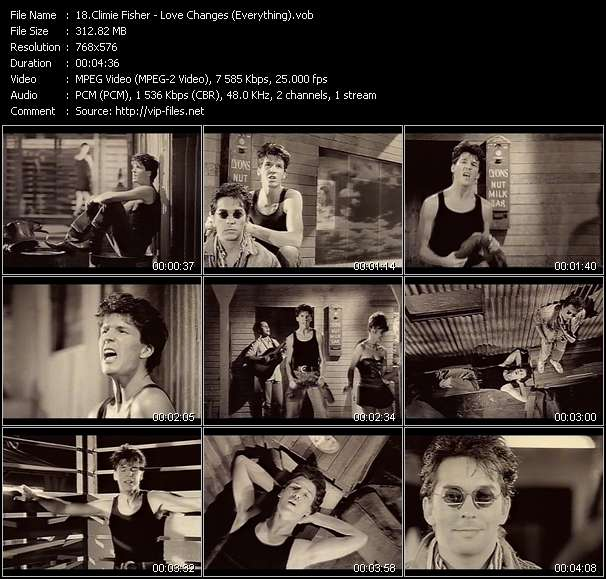 Screenshot of Music Video Climie Fisher - Love Changes (Everything)