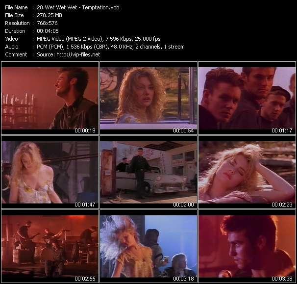 Screenshot of Music Video Wet Wet Wet - Temptation