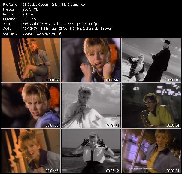 Screenshot of Music Video Debbie Gibson - Only In My Dreams