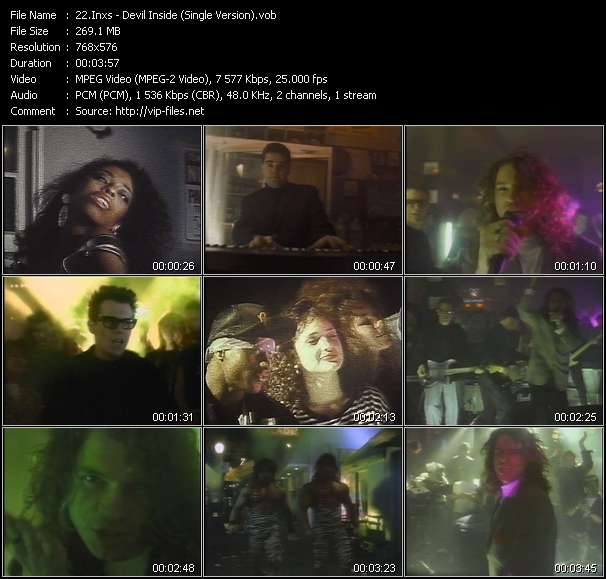 Screenshot of Music Video Inxs - Devil Inside (Single Version)