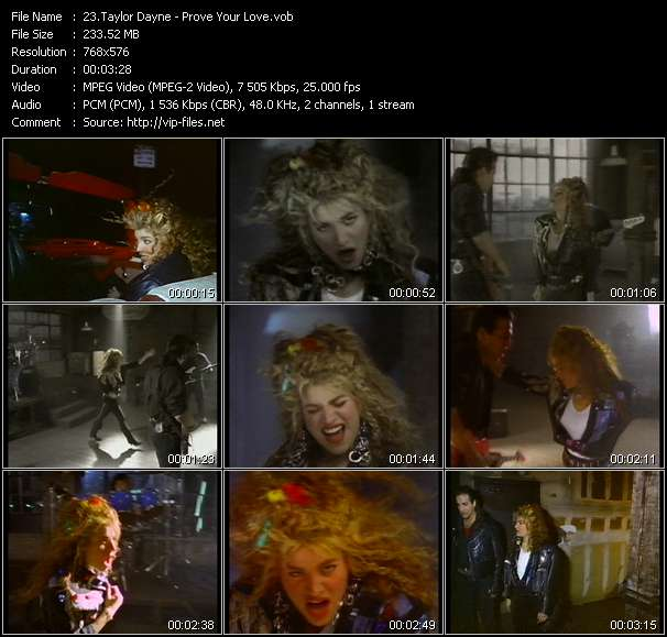 Screenshot of Music Video Taylor Dayne - Prove Your Love