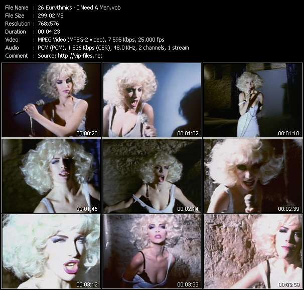 Screenshot of Music Video Eurythmics - I Need A Man