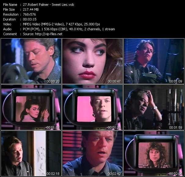 Screenshot of Music Video Robert Palmer - Sweet Lies