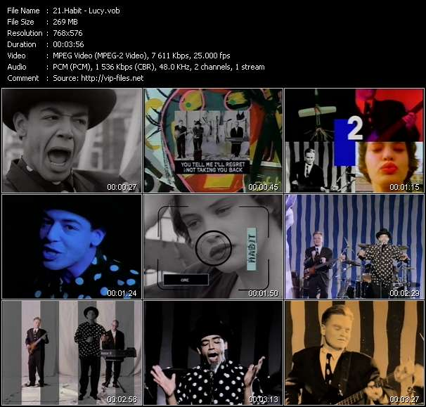 Screenshot of Music Video Habit - Lucy