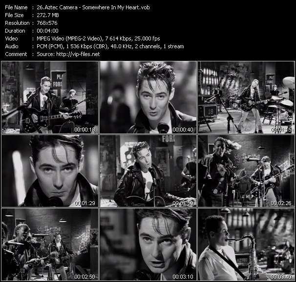Screenshot of Music Video Aztec Camera - Somewhere In My Heart