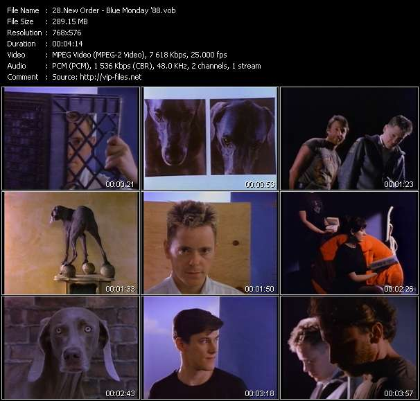 Screenshot of Music Video New Order - Blue Monday '88