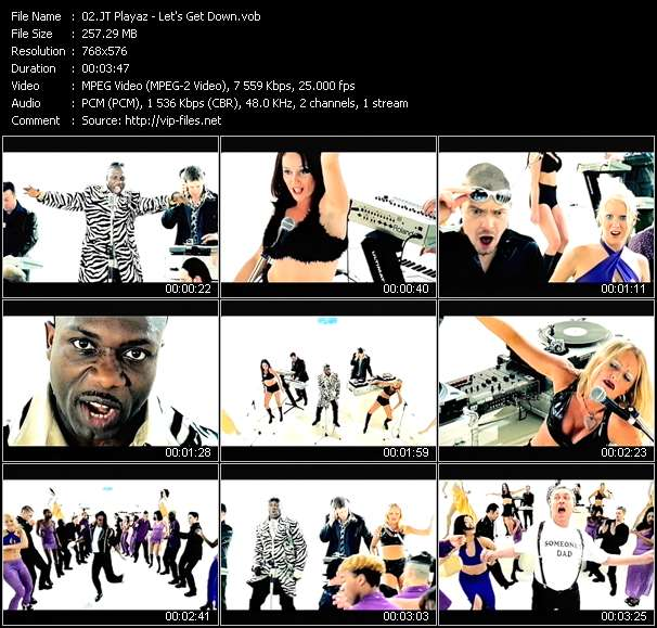 Screenshot of Music Video JT Playaz - Let's Get Down