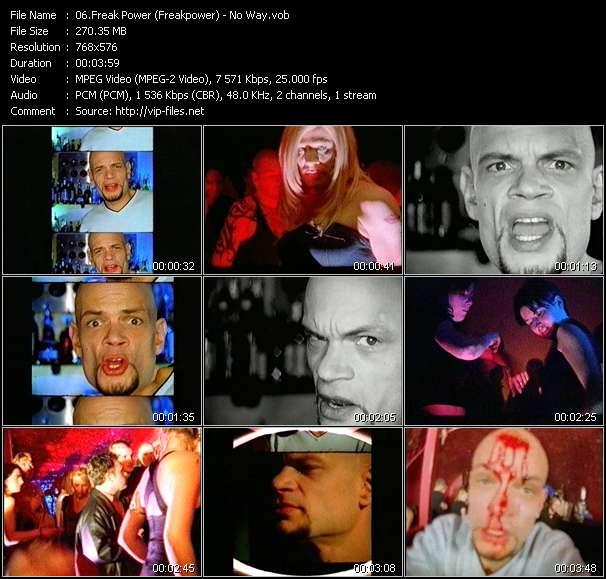 Screenshot of Music Video Freak Power (Freakpower) - No Way