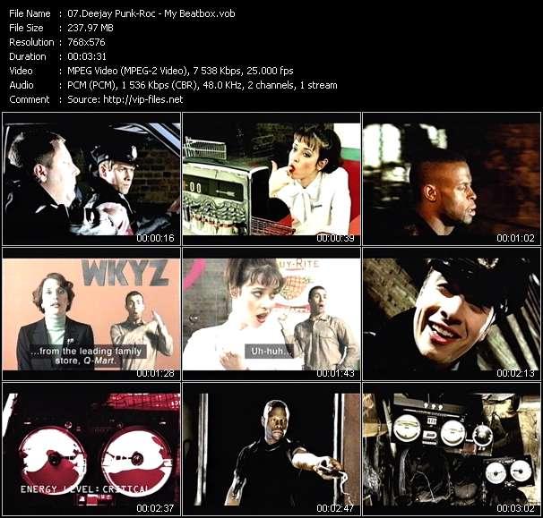 Screenshot of Music Video Deejay Punk-Roc - My Beatbox