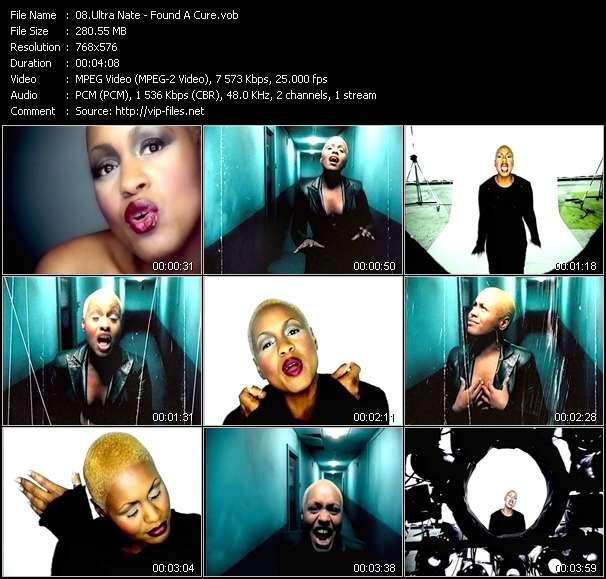 Screenshot of Music Video Ultra Nate - Found A Cure