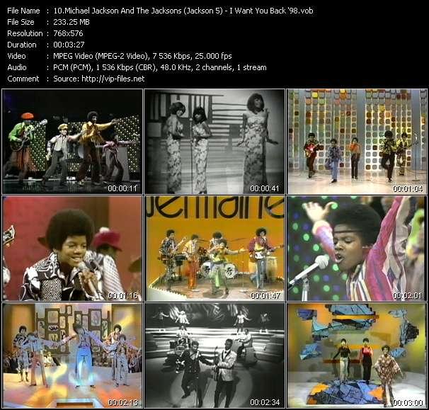 Screenshot of Music Video Michael Jackson And The Jacksons (Jackson 5) - I Want You Back '98